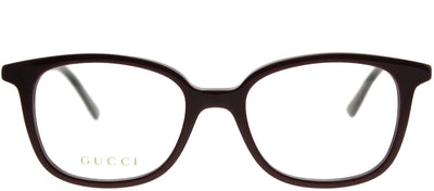 Gucci GG 0202O 004 Rectangle Plastic Burgundy/ Red Eyeglasses with Demo Lens