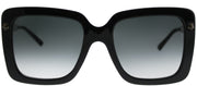 Gucci GG 0216S 001 Square Plastic Black Sunglasses with Grey Gradient Lens