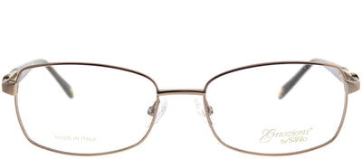Emozioni EM 4380 1N5 Rectangle Metal Gold Eyeglasses with Demo Lens