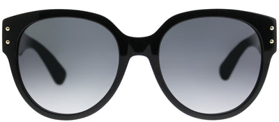Moschino MOS 013/S 807 9O Cat-Eye Plastic Black Sunglasses with Dark Grey Gradient Lens