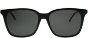 Bottega Veneta BV 0131S 001 Square Plastic Black Sunglasses with Grey Lens