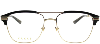 Gucci GG 0241O 002 Rectangle Plastic Gold Eyeglasses with Demo Lens