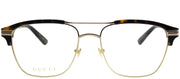 Gucci GG 0241O 003 Rectangle Plastic Gold Eyeglasses with Demo Lens