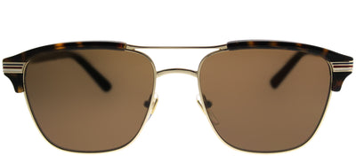 Gucci GG 0241S 003 Rectangle Plastic Gold Sunglasses with Brown Lens