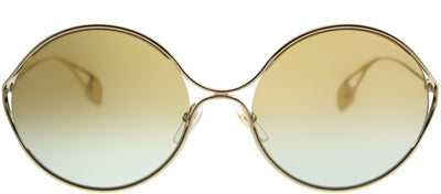 Gucci GG 0253S 005 Round Metal Gold Sunglasses with Gold Gradient Lens