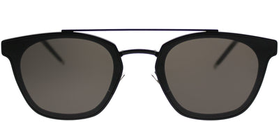 Saint Laurent SL 28Metal 001 Rectangle Plastic Black Sunglasses with Grey Lens