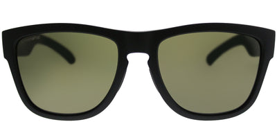 Smith SM Clark 003 L7 Rectangle Plastic Black Sunglasses with Green ChromaPop Polarized Lens