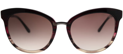 Tom Ford TF 461 71F Cat-Eye Plastic Burgundy/ Red Sunglasses with Brown Gradient Lens