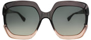 Dior CD DiorGaia 7HH Square Plastic Grey Sunglasses with Grey Gradient Lens