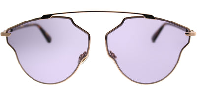 Dior CD SoRealPop 06J U1 Aviator Metal Gold Sunglasses with Purple Lens