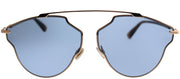 Dior CD SoRealPop DDB Aviator Metal Gold Sunglasses with Blue Lens