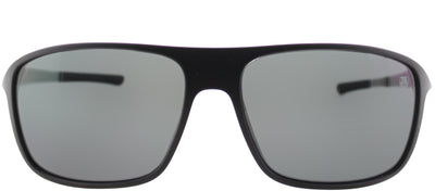 TAG Heuer TAG 6041 101 Rectangle Plastic Black Sunglasses with Grey Lens