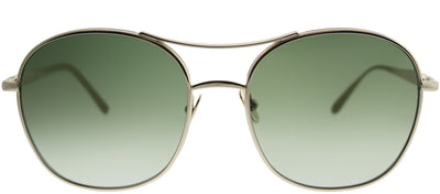 Chloe CE 137S 733 Square Metal Gold Sunglasses with Green Gradient Lens