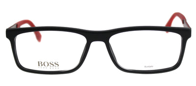 Hugo Boss BOSS 0774 QMI Rectangle Plastic Black Eyeglasses with Demo Lens