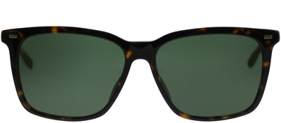 Hugo Boss BOSS 0883 0R6 85 Rectangle Plastic Tortoise/ Havana Sunglasses with Green Lens