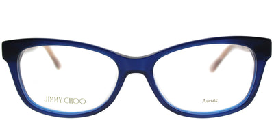 Jimmy Choo JC 193 1ZN Rectangle Plastic Blue Eyeglasses with Demo Lens