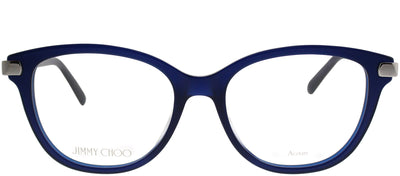 Jimmy Choo JC 196 PJP Square Plastic Blue Eyeglasses with Demo Lens