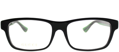 Gucci GG 0006OA 002 Rectangle Plastic Black Eyeglasses with Demo Lens
