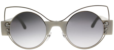 Marc Jacobs MARC 1 U4X Cat-Eye Metal Silver Sunglasses with Silver Mirror Lens