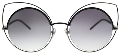 Marc Jacobs MARC 10 25K Cat-Eye Metal Silver Sunglasses with Silver Mirror Lens