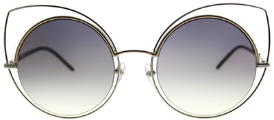 Marc Jacobs MARC 10 TWM Cat-Eye Metal Silver Sunglasses with Gold Mirror Lens