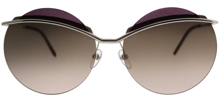 Marc Jacobs MARC 102 3YG ZV Round Metal Gold Sunglasses with Pink Gold Mirror Lens