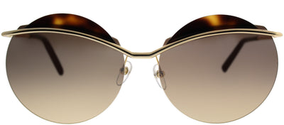 Marc Jacobs MARC 102 J5G GG Round Metal Gold Sunglasses with Brown Gold Mirror Lens