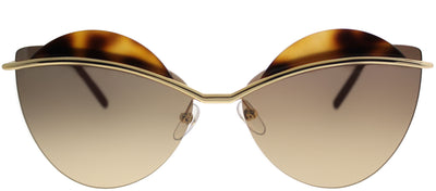 Marc Jacobs MARC 104 J5G GG Cat-Eye Metal Gold Sunglasses with Brown Gold Mirror Lens