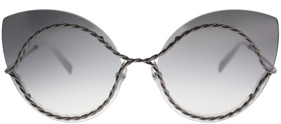 Marc Jacobs MARC 161 6LB Cat-Eye Metal Ruthenium/ Gunmetal Sunglasses with Grey Lens