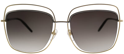 Marc Jacobs MARC 9 APQ Square Metal Gold Sunglasses with Brown Gradient Lens