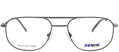 Denim Eyewear Denim 133 X93 Square Metal Ruthenium/ Gunmetal Eyeglasses with Demo Lens