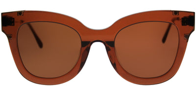 Gentle Monster GMS ChiChi BC1 Square Plastic Brown Sunglasses with Brown Lens