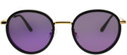 Gentle Monster GMS FutureIsPast3 01 9M Round Plastic Black Sunglasses with Purple Mirror Lens