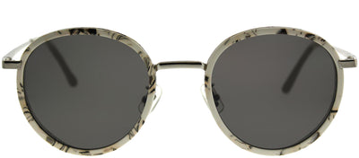 Gentle Monster GMS FutureIsPast3 MB1 Round Plastic Ivory/ White Sunglasses with Grey Lens