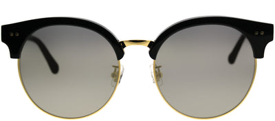 Gentle Monster GMS MoonCut 01 2M Round Plastic Black Sunglasses with Gold Mirror Lens