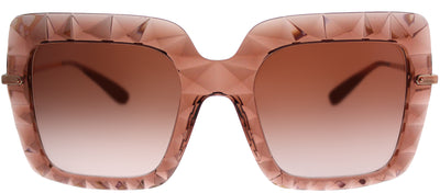 Dolce & Gabbana DG 6111 314813 Square Plastic Pink Sunglasses with Pink Gradient Lens