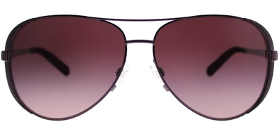 Michael Kors Chelsea MK 5004 11588H Aviator Metal Purple Sunglasses with Burgundy Gradient Lens