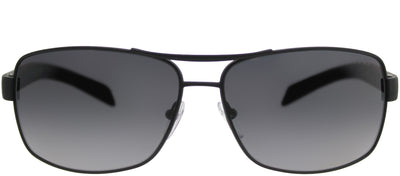 Prada Linea Rossa PS 54IS DG05W1 Aviator Metal Black Sunglasses with Grey Gradient Polarized Lens