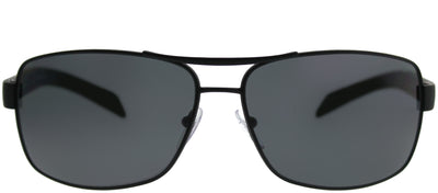 Prada Linea Rossa PS 54IS DG05Z1 Aviator Metal Black Sunglasses with Grey Polarized Lens