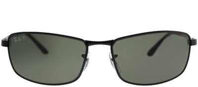 Ray-Ban RB 3498 002/9A Sport Metal Black Sunglasses with Green Polarized Lens