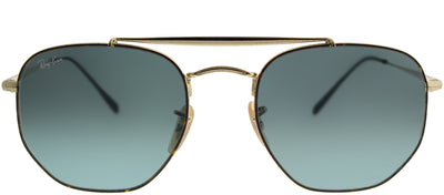 Ray-Ban RB 3648 91023M Aviator Metal Tortoise/ Havana Sunglasses with Blue Gradient Lens