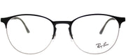 Ray-Ban RX 6375 2861 Round Metal Silver Eyeglasses with Demo Lens