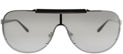 Versace VE 2140 10006G Aviator Metal Silver Sunglasses with Silver Mirror Lens