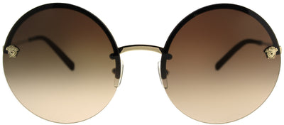 Versace VE 2176 125213 Round Metal Gold Sunglasses with Brown Gradient Lens