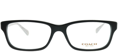 Coach HC 6052 5214 Rectangle Plastic Black Eyeglasses with Demo Lens