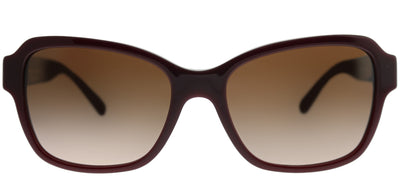 Coach HC 8232 550913 Rectangle Plastic Burgundy/ Red Sunglasses with Dark Brown Gradient Lens
