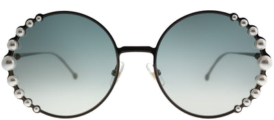 Fendi FF 0295 J7D EZ Round Metal Bronze Sunglasses with Silver Mirror Lens