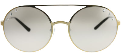 Michael Kors MK 1027 11936G Round Metal Gold Sunglasses with Silver Mirror Lens