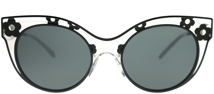 Michael Kors MK 1038 305087 Cat-Eye Metal Black Sunglasses with Grey Lens