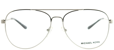 Michael Kors MK 3019 1118 Aviator Metal Silver Eyeglasses with Demo Lens